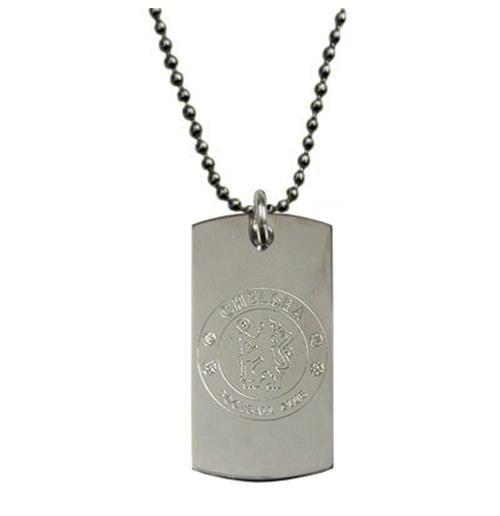 Chelsea F.C. Engraved Crest Dog Tag and Chain