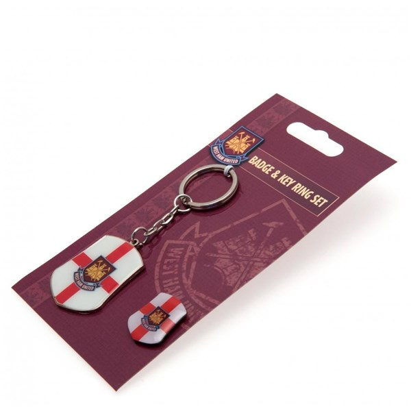 West Ham United F.C. Keyring and Badge Set