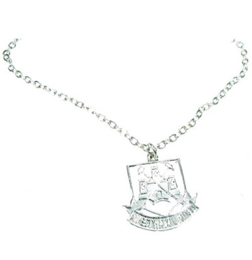 West Ham United F.C. Silver Plated Pendant and Chain