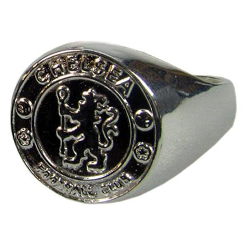 Chelsea F.C. Silver Plated Crest Ring Large