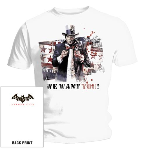 T Shirt Batman We Want You. Emi Music officially licensed t-shirt.