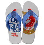 COLT 45 Mens Beer Sandals Beach Pool Flip Flops