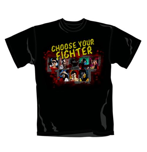 Mortal Kombat T Shirt Choose Your Fighter. Emi Music officially licensed t-shirt.