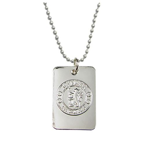 Chelsea F.C. Silver Plated Dog Tag and Chain