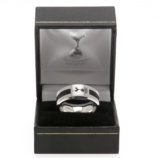 Tottenham Hotspur F.C. Black Inlay Ring Medium