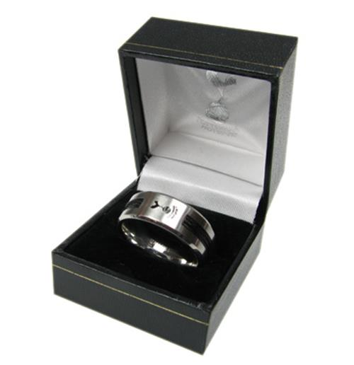 Tottenham Hotspur F.C. Black Inlay Ring Large