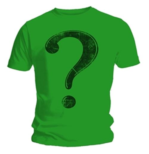 Batman t shirt riddler chest emi music officially for Riddler t shirt with bats