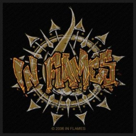 In Flames   Graffiti Logo   Patch