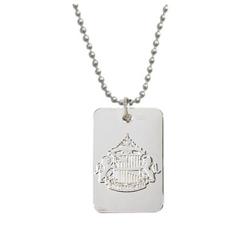 Sunderland A.F.C. Silver Plated Dog Tag and Chain