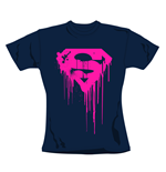 Superman T Shirt Navy. Emi Music officially licensed t-shirt.