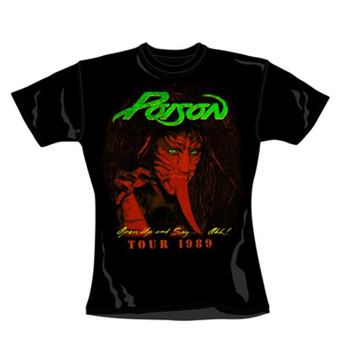 Poison T Shirt Tour. Emi Music officially licensed t-shirt.