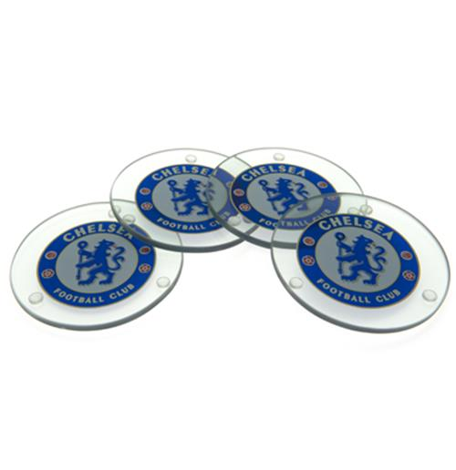 Chelsea F.C. Glass Coasters RD