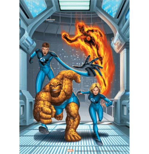 Fantastic Four Group Poster 3d