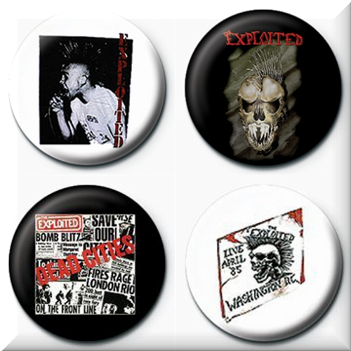 The Exploited 4 Badges Badgepack 1