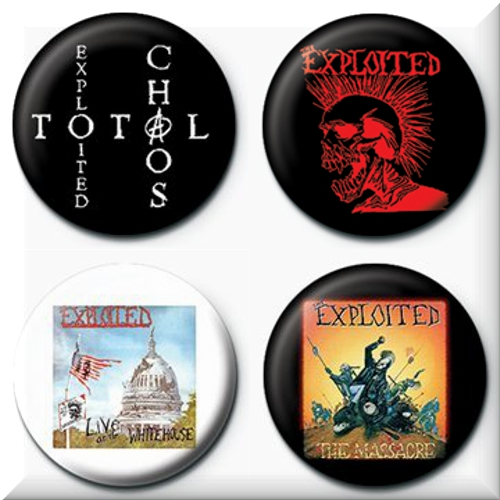 The Exploited 4 Badges Badgepack 2