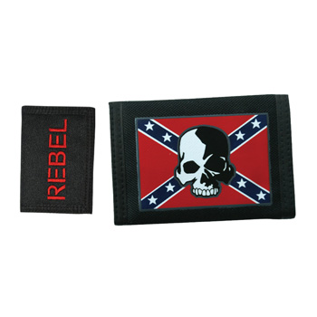 Rebel Skull Velcro Wallet