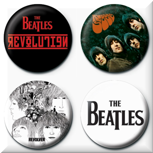 The Beatles 4 Badges Badgepack 4