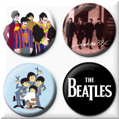 The Beatles 4 Badges Badgepack 5