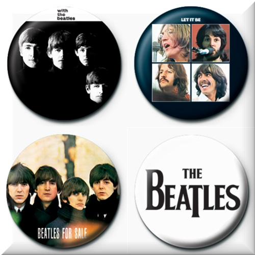 Official The Beatles 4 Badges Badgepack 6 Buy Online On Offer