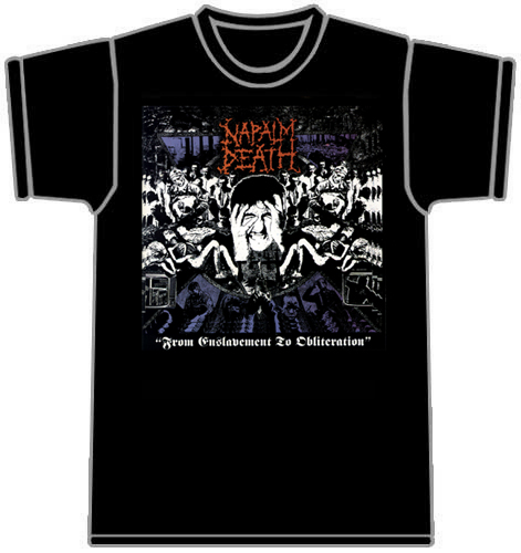 Napalm Dead   From Enslavement To Obliteration   Tshirt
