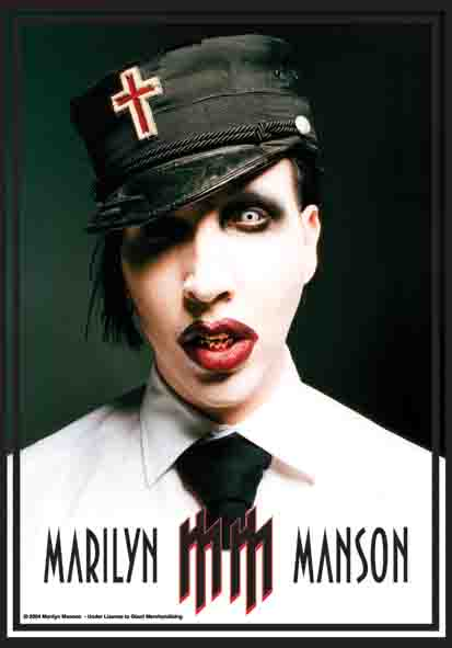 Marilyn Manson Mm Logo Flag