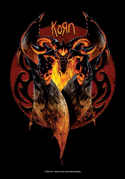 Korn Goat Wings Flag
