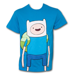 ADVENTURE TIME Large Finn Shirt Blue