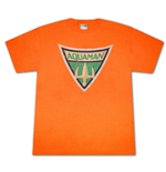 AQUAMAN Symbol T Shirt Orange
