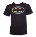 BATMAN Classic Golden Embossed Logo Shirt Black