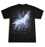 BATMAN Dark Knight Rises Movie Sky Logo T-Shirt Black