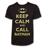 Keep Calm and Call BATMAN Shirt Black