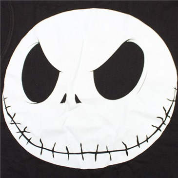 Buy Official Nightmare Before Xmas Thermal Skull Black