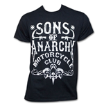 SONS OF ANARCHY Motorcycle Club Shirt Black