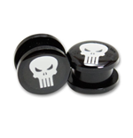 PUNISHER Logo Plugs Pair Size 1/2in