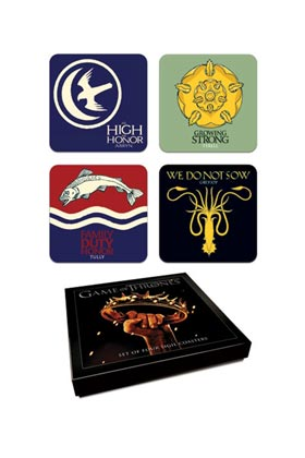 (NEX) Set B Logos Set 4 Coasters Game Of Thrones