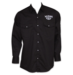 Jack Daniel's Whiskey Long Sleeve Button-Up Dress Shirt - Black