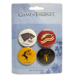 Game Of Thrones Button Badge 4-Pack Version 2