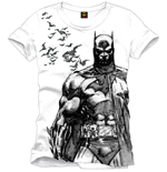 Batman T-Shirt Bats white