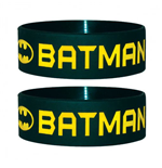 Batman Rubber Wristband Text & Logo