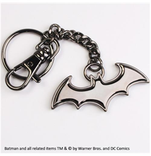 Batman Metal Key Ring Black Logo