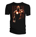 Marvel T-Shirt Iron Man Glowing Hand and Chest