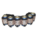 The Beer Belt Six Pack Can Holder Belt - Leopard