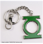 Green Lantern Metal Key Ring Green Logo