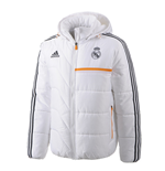2013-14 Real Madrid Adidas Padded Jacket (White)