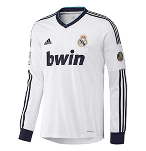 info for 1a97b b853c 2012-13 Real Madrid Adidas Long Sleeve Home Shirt