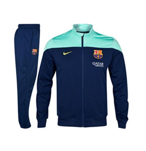 a72679065b8 Buy 2013-14 Barcelona Nike Woven Sideline Tracksuit (Green-Navy)