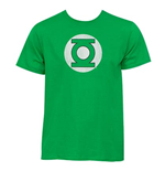 GREEN LANTERN Faded Logo Green Graphic TShirt